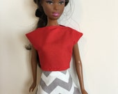 Handmade Barbie Clothes TOP ONLY Mix n Match Designs by P D Reneau