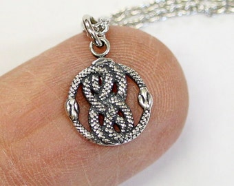 Tiny AURYN Charm Necklace in Solid Sterling Neverending Story AURYN Choker Jewelry 505