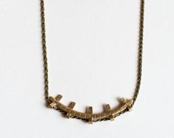 Azur Cast Necklace - Nautical Bronze Pendant Necklace