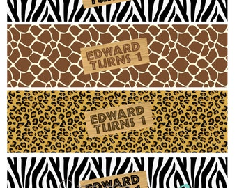 ANIMAL PRINT Printable Drink Wraps