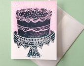Fancy Birthday Cake Greeting Card