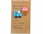 Ice Cream Magnets - Ice Cream Cone & Ice Cream Truck Magnet Set, Cute Fridge Magnets, Kitchen Decor, Refrigerator Magnets, Locker Decor