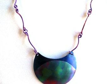 Large Colorful Niobium Pendant Necklace