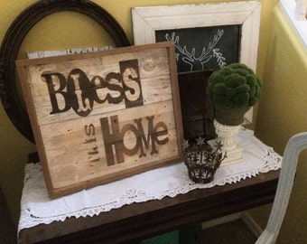 Home Decor, Wall Decor, Wood sign, Pallet sign, Rustic Home Decor, Country Home Decor, Farmhouse Decor, Antique sign, Painted Sign, 20x17