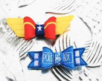 Sensational Hero Bows, Your Choice of Wonder Woman or Doctor Who Inspired  Felt Bow Clip
