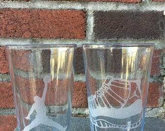Jordan 11 Sneaker and Jumpman Pint Glasses - Set of 2