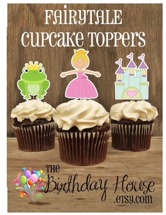 Princess Birthday Party - Set of 12 Fairytale Cupcake Toppers by The Birthday House