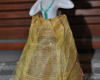 Antique Pincushion Half Doll Stopper on Bottle of Lavender Germany