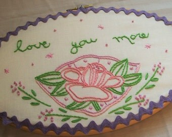 Embroidery Hoop Art, Hoop Art, Embroidery Art, Love You More, Embroidery