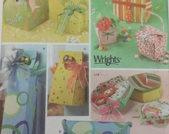 Simplicity 4320 Fabric Gift Boxes Pattern Wrights Designs by Shirley Botsford Make your own fabric gift box
