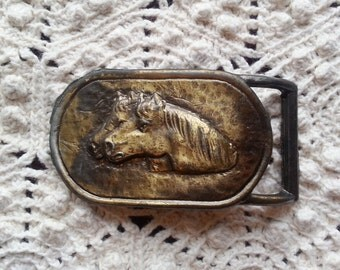 Vintage Horse Buckle Accurate Belt Buckle Accurate 5204 Equine Belt Buckle