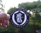 PROTECTOR of THE TENDERHEARTED - Anatomical heart iron on patch - accessories - gift for him and her - fathers day - mothers day - give love
