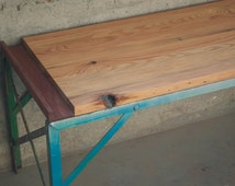 Reclaimed Coffee Table (Natural) Reclaimed, salvaged, recycled, upcycled, antique, rustic, shabbychic, midcentury, custom