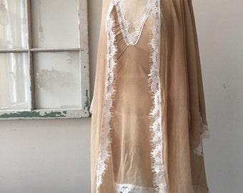 Spring Fling Honeymoon Hand Dyed Silk Chiffon Robe