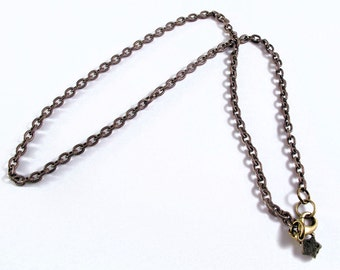 Chain  necklace - antiqued brass - 3.5mm etched cable - classic