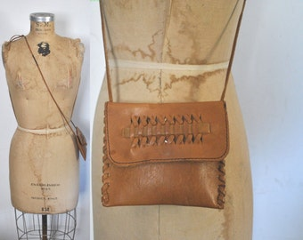 Leather Pouch Brown Bag / wallet purse