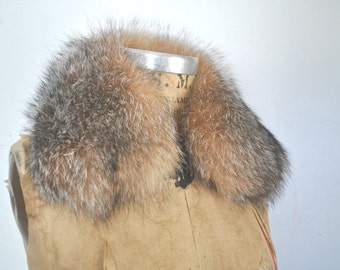 Genuine Fox Fur Collar / multicolor