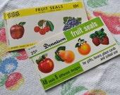 Vintage Dennison and Eureka Fruit Seals 72 pc.