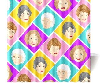 PLATINUM GALS these girls are GOLDEN shower curtain in 3 sizes... original illustration