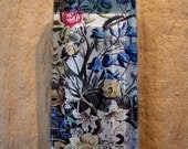 30% OFF Floral Botanical Print Large Rectangle Glass Pendant