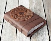 Leather Journal with Bangladesh Block Print Design