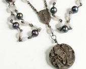 Steampunk Necklace Steampunk Watch Rosary Beads