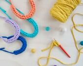 Crochet jersey iCord Neck...