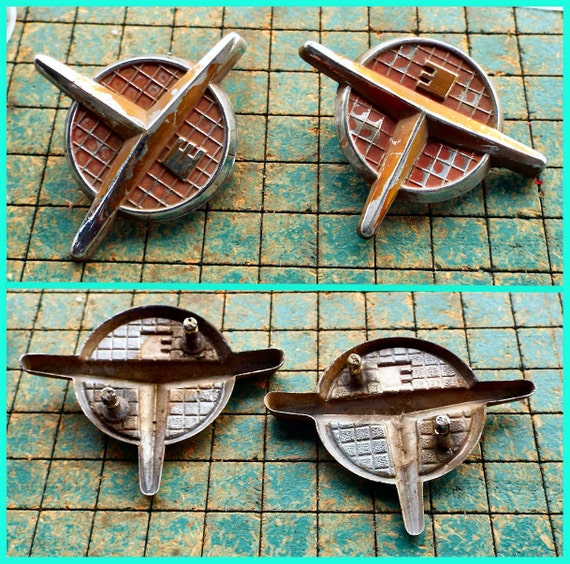 1956 Evinrude Outboard Motor Cover Emblems Original Aluminum