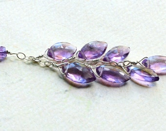 "Amethyst Necklace on Sterling Silver - ""Amethyst Rain"" by CircesHouse on Etsy"