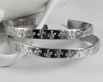 Prince Logo Skinny Cuff Bracelet, Prince Bracelet, Silver Prince Bracelet, Prince Jewelry, Prince, Prince Logo, Prince Tribute