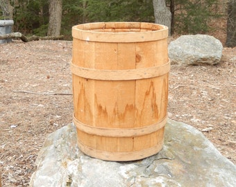 vintage nail keg, wooden storage barrel, primitive, home decor, rustic, home and living