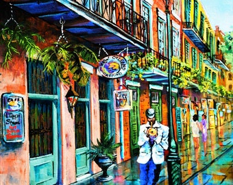 Jazz on the Street, New Orleans Jazz, New Orleans French Quarter Art, New Orleans Jazz, Louisiana Art,  New Orleans Jazz Art - 'Jazz'n'