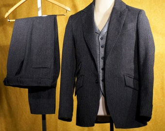 Charcoal 3pc Suits---With a dash of the 1920s