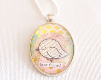 best friend necklace, friendship jewelry, best friend gift, jewelry for friend, womens necklace