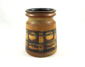 Mid Century Modernist Lapid Pottery Vase from Israel