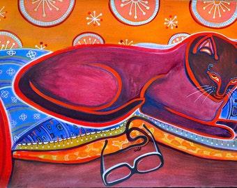 Happy in the sunshine - 2007 - watercolours, pencils on 100% cotton Arches watercolour paper