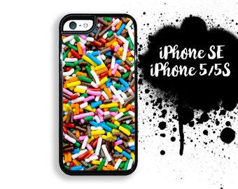 iPhone 5S SE Candy Sprinkles iPhone 5S Case | iPhone 5 Kawaii Candy  | Plastic or Rubber Case for iPhone 5 5S