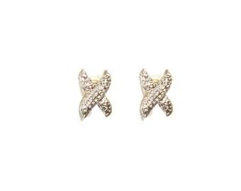 Crystal Rhinestone Earrings , Crystal Post Earrings