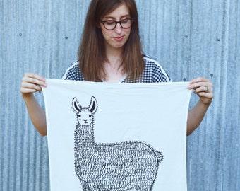 Llama Tea Towel, Llama Animal Tea Towels, Llama Dishcloths, Gift For Animal Lovers, Gift For Her, Home Essentials, Animal Kitchen Towels