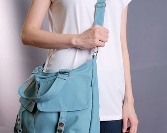 Sale 20% OFF-Ready To Ship-Messenger Bag in Spruce/Handbag/Shoulder bag/Tote/Gift Ideas/Crossbody bag/messenger bag/For Him/For Her - 091