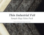 Thin Industrial Felt Sample Bags Value Pack