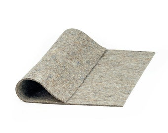 "Thin High Density Industrial Wool Felt Square - Natural Gray, SAE F51 Grade, 12"" x 12"" x 1/16"" Thick"