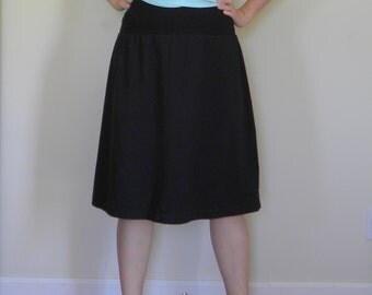 Womens Jersey Knit Skirt  Made in the USA -  Made to Order - All Seasons