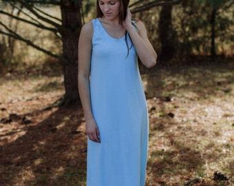 Allegany Tank Maxi Dress Organic Cotton Jersey Knit Women's Organic Cotton Clothing