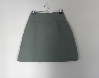 Sale Small Sage Green Organic Cotton Clothing Sweatshirt Fleece Skirt  Made in the USA - Organic Cotton Clothing
