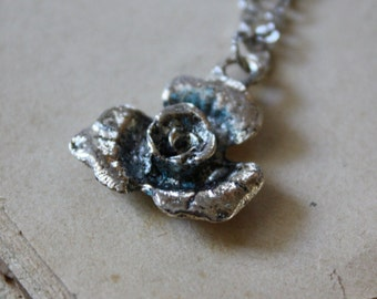 Rose Necklace - Woodland Necklace - Flower Necklace