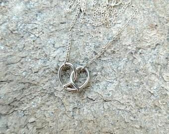 Pretzel Necklace - Soft Pretzel Necklace