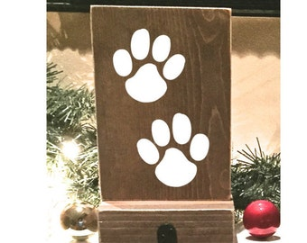 stocking holder reclaimed wood pet stocking holder mantle stocking rustic christmas - Stocking Hangers For Mantle