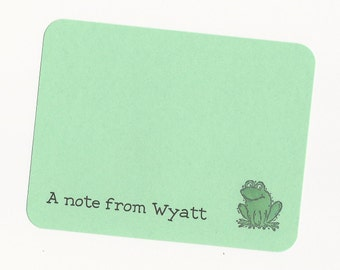 Frog Thank You Notes or Stationery