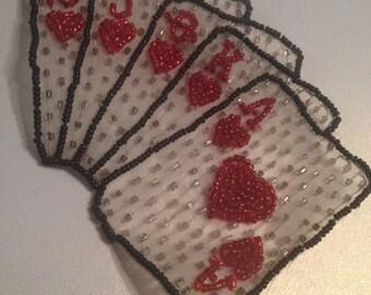 Royal Flush Pin Hearts